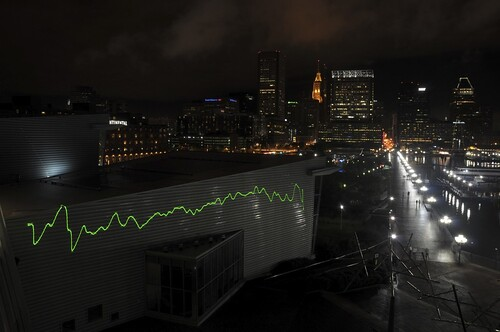 Light Fantastic: Laser at Inner Harbor Beams Hubble's Heartbeat