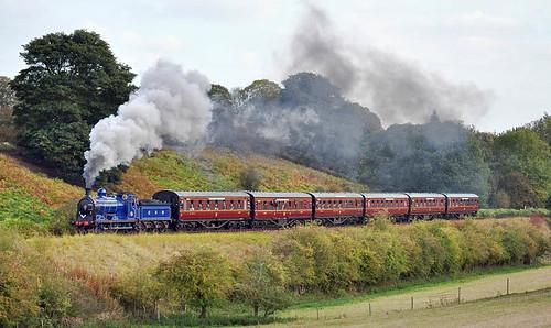 828 on Eardington bank (geoffspages) Tags: geotagged railway steam 828 severnvalley uksteam caledonianrailway geo:lat=52506405517279866 geo:lon=24033137234497417