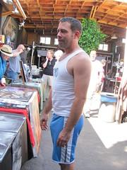 Erotic Art Show - Axel (CAHairyBear) Tags: man men leather uomo mann axel vpl pistons hombre homme commando bulge hom freeballing