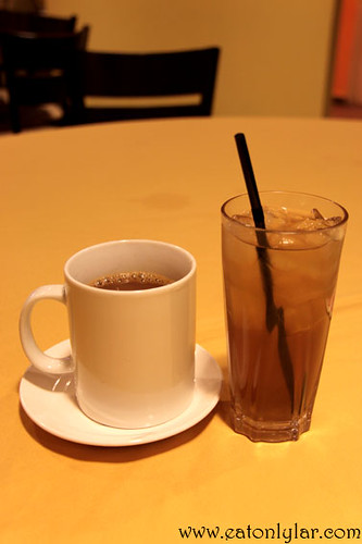 Kopi Tarik (left) and Herbal Tea (right), Herbs & Spices