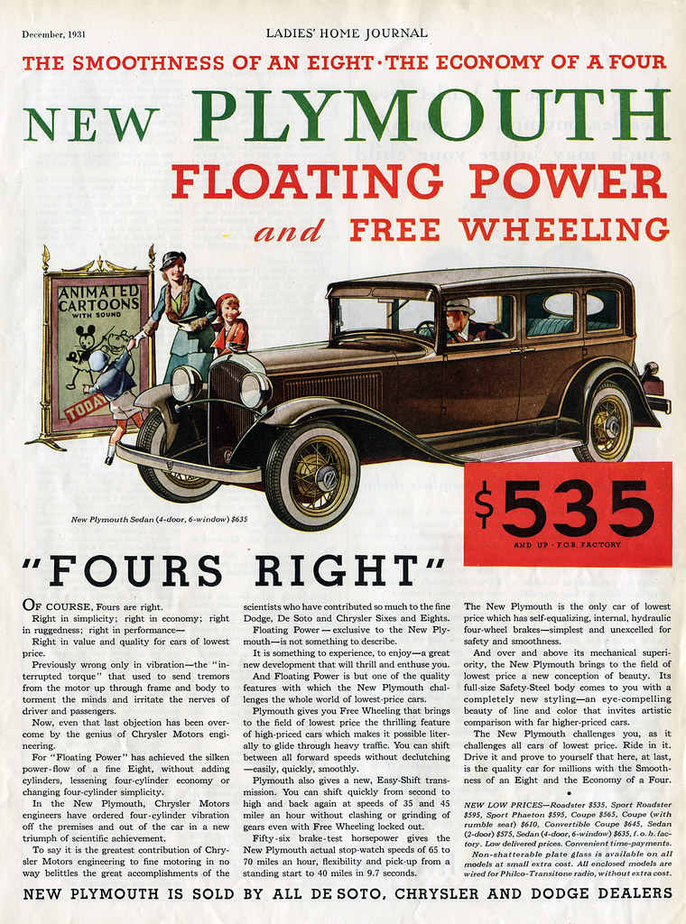 New Plymouth Floating Power and Free Wheeling,