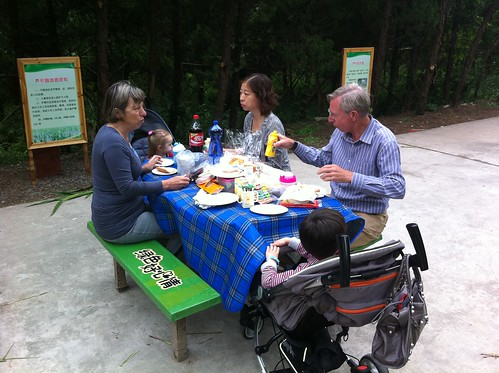 Lunch at Forest park on Chongming Island