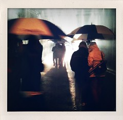 monsoon (Ramn Charles) Tags: toronto water rain umbrella alley blanche nuit iphone