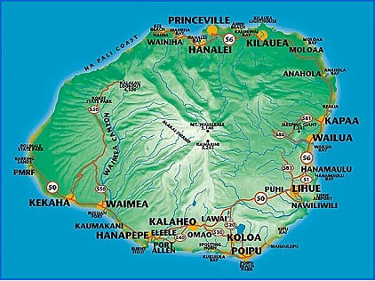 Kauai - map