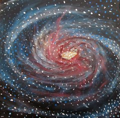 Messier 106 Spiral Galaxy (alizeykhan) Tags: stars star space paintings nasa galaxy nebula galaxies universe hubble pointillism spaceart nebulae sspace spacetuna