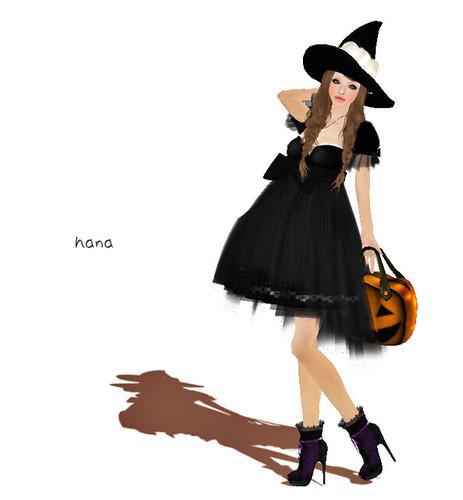 bonne chance! Halloween Witch Dress