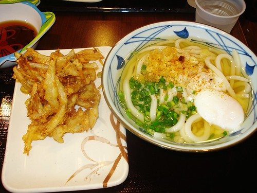Hot Udon and Vegetable Tempura
