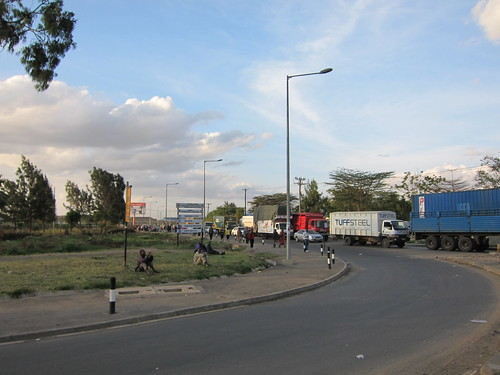 main road in nairobi kenya africa by Danalynn C