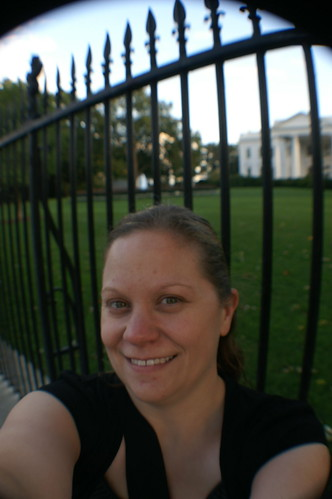 More of me with the White House in the background