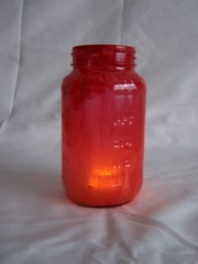 Red Votive Jar
