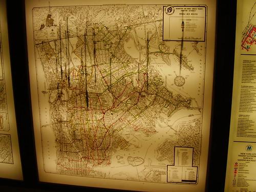 1968 Bronx Bus Map