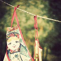 Matryoshka Doll Apron on the Line (Cat Girl 007) Tags: texture square russia apron clotheslines matryoshka uglich  bsquare explored florabella  texture176bylenenbamanna