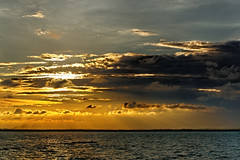 #850C4316- Four layers (Zoemies...) Tags: sunset sea beach nature colors clouds four layers balikpapan melawai zoemies