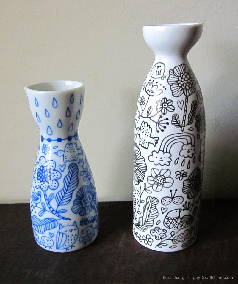 2 Sake Bottles