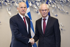 President Van Rompuy meets Mr. George Papandre...