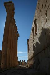 Palmyra - Tadmor 04 (Nawar-2012) Tags: windows statue stone canon effects temple sand ruins desert columns tourist tourists queen arab syria column arabian base palmyra zenobia baal  tadmor     tadmur   nawar  canoneos400d  tudmur zanobia    kouli