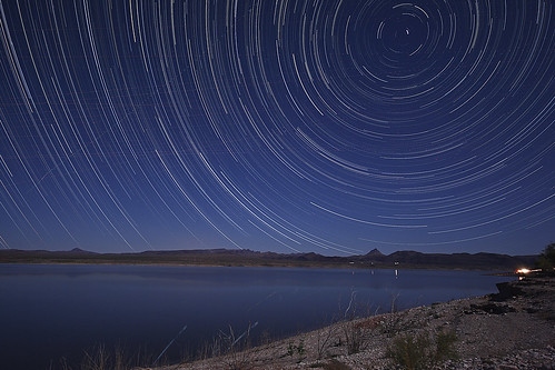 Circumpolar Star Trails over Alamo Lake