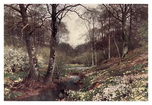 007-Un paisaje de primavera cerca de Dorking-The charm of gardens 1910- Dion Clayton Calthrop
