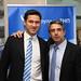 Alaturi de Ministrul bulgar al Dezvoltării Regionale, Rosen Plevneliev, candidatul partidului de dreapta aflat la putere, GERB, la alegerile prezidenţiale de la 23 octombrie