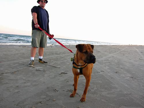 Eric and Willa = beach pals