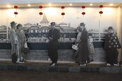 Old Shanghai Street display in People's Square underground mall, Shanghai, China