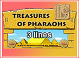 Online Treasure of Pharaohs 3 Lines Slots Review