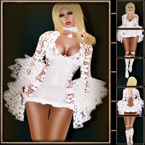 A&A Fashion white Lily Dress