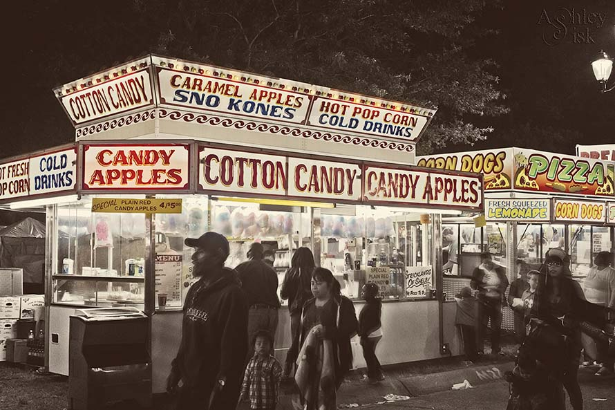 Cotton Candy Candy Apples RS