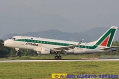 """Alitalia Express Embraer ERJ-170-100LR EI-DFH """"Via Aurelia"""" (Mario Alberto Ravasio) Tags: al express lime bergamo serio alitalia embraer orio viaaurelia bgy erj170100lr eidfh"""
