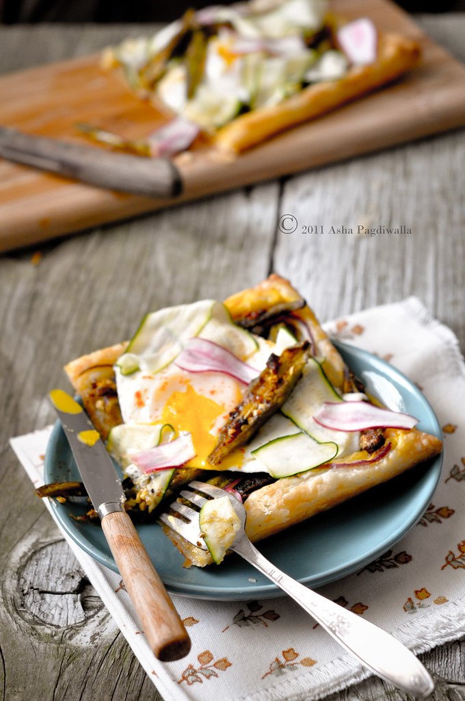 Fried Egg & Okra tart1