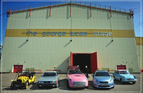 The Establishing Shot This Week : The Ford Centenary Tour Cars George Lucas Stage, Elstree Studios - Credit Anthony Cullen by Craig Grobler