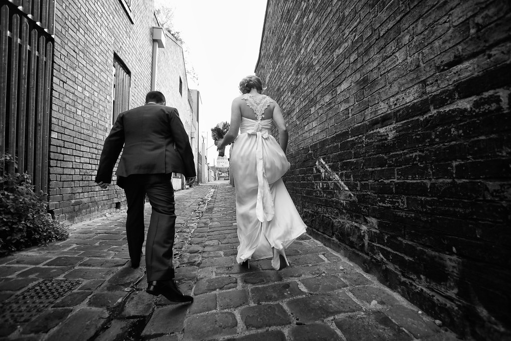 fitzroy alleyway wedding