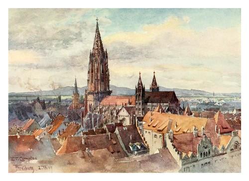 002-Freisbur-Im- Breisgau-Germany-1912- Edward y Theodore Compton ilustradores