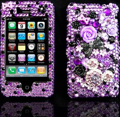 purple & black flowers