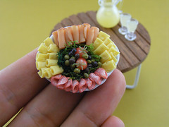 Meat and Cheese Platter (Shay Aaron) Tags: thanksgiving party food feast turkey lunch miniature backyard picnic outdoor handmade pastel mini bbq ham polymerclay fimo tiny meal pastels deli barbeque buffet 12th 112 platter cookout salami dollhouse petit pastrami delicatessen coldcuts antipasto hardcheese oneinchscale coldmeat shayaaron