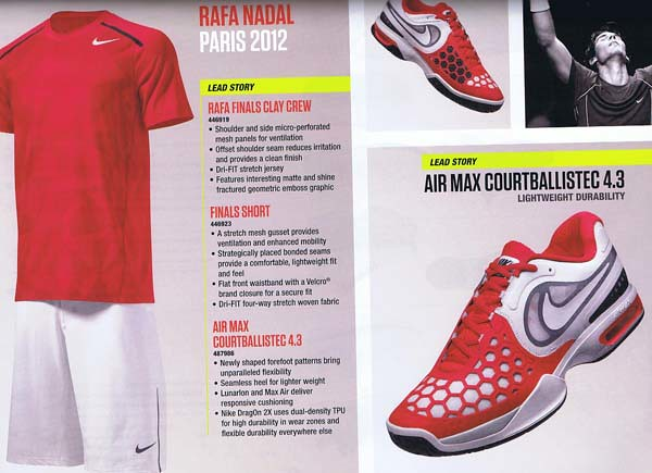 new concept f5040 2f055 Roland Garros 2012  Rafael Nadal Nike outfit
