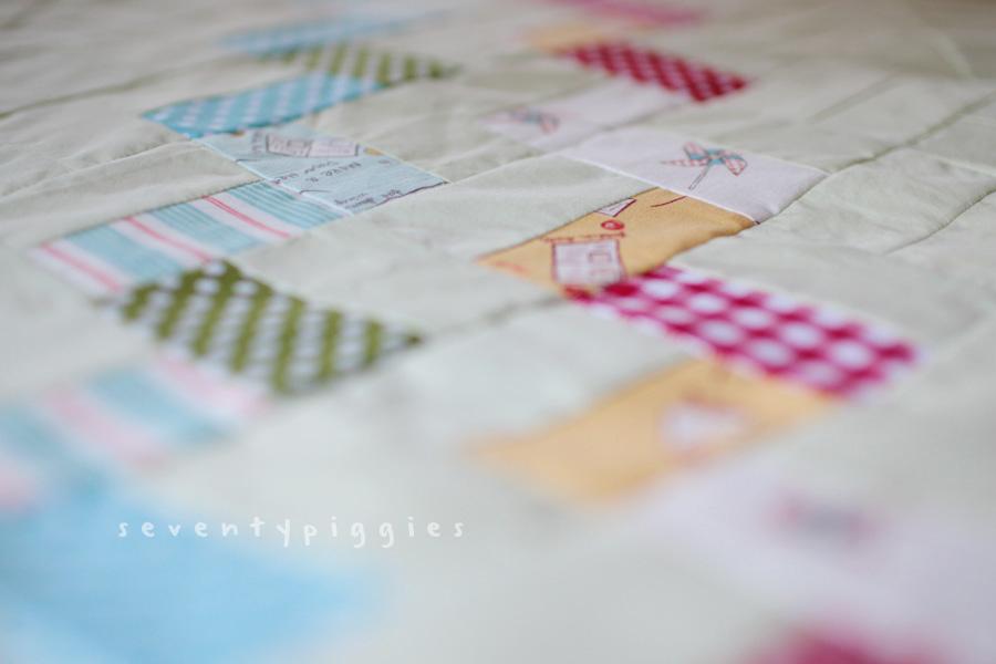 zigzag quilt top