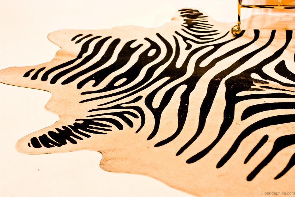 zebra bear rug
