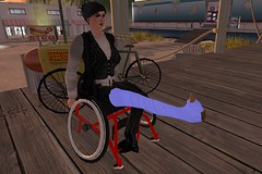 EccentraH_002 (Eccentra Hobble) Tags: avatar cast crutches injured leg legcast life second secondlife sl wheelchair eccentra hobble eccentrahobble eccentrah female girl lady llc amputee stump ak aboveknee