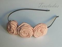 D.rosas3 3 (Teretadas) Tags: handmade diadema hechoamano diademas fabricroses accesoriosparaelcabello rosadetela