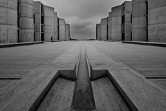 Salk Institute (Chimay Bleue) Tags: white black fountain architecture modern dark concrete grey la san modernism diego architect kahn research jolla brutalism modernist beton brutalist ucsd midcentury brut mcm