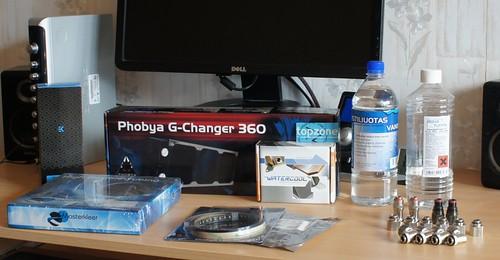Phobya G Changer 360 radiatorius ir daug LED švieselių...