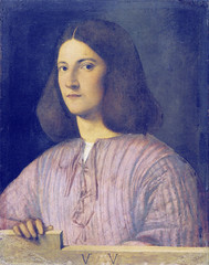 Giorgione: Portrait of a young man (petrus.agricola) Tags: portrait man berlin young giorgione gemldegalerie