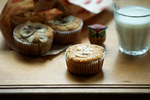 Almond and banana muffins