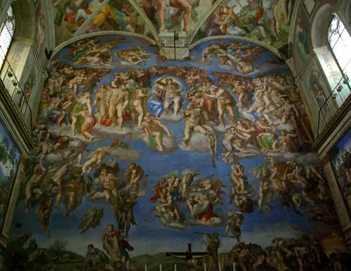 El Judici Final de Michelangelo, Capella Sixtina, Vaticà by Sebastià Giralt