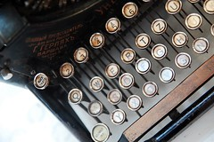 bulgakov's typewriter (thejaymo) Tags: old typewriter museum keys nikon russia moscow russian mikhail bulgakov d40 bulgakovs