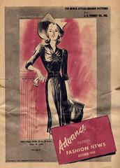 Advance Pattern Fashion News October 1940 (vintagestitches) Tags: fashion 1940 1940s advance vintagesewing vintagefashion vintagepattern