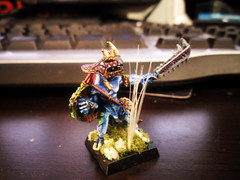 Skink Chief front (Camper_Bob) Tags: miniature painted chief warhammer duncan skink lizardmen
