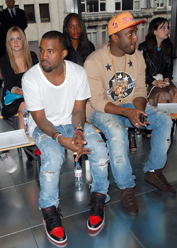Kanye and Vigil Abloh, Christopher Kane show