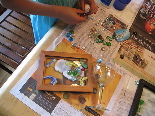 "Working on the ""stained glass"" projects"